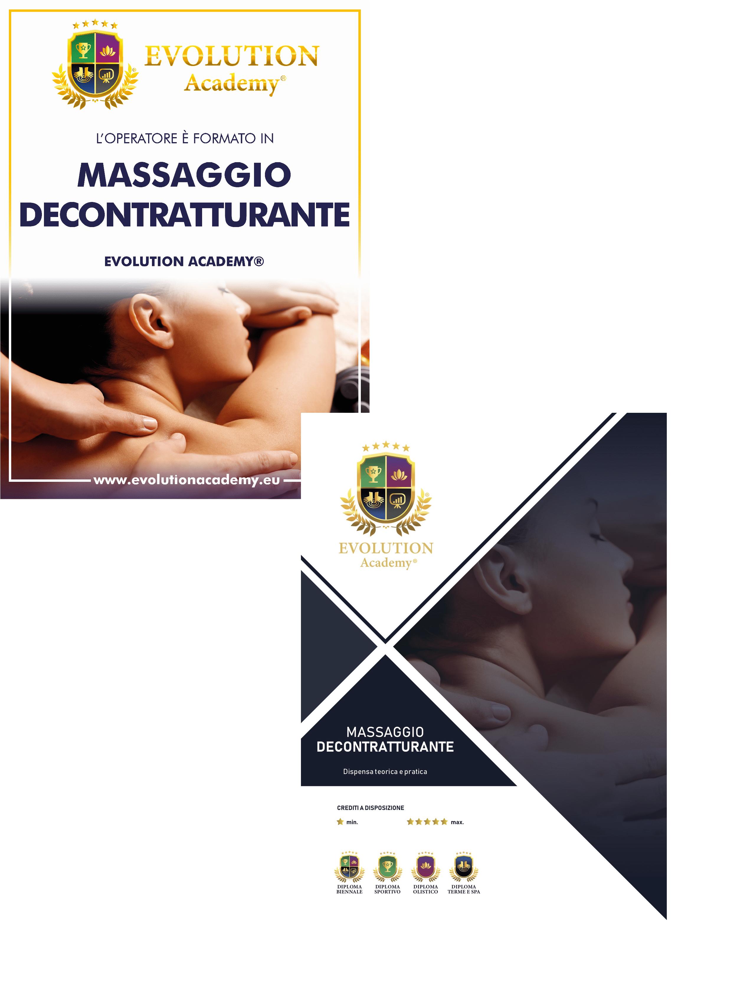 Materiale didattico fornito al corso di massaggio decontratturante