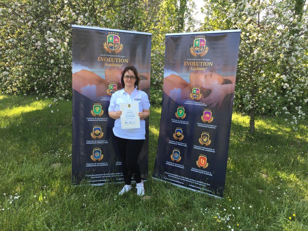 Certificazioni e materiale rilasciato al corso di riflessologia plantare elemento terra a Roma